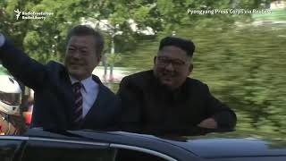 North Koreans Turn Out in Force To Welcome South Korean President