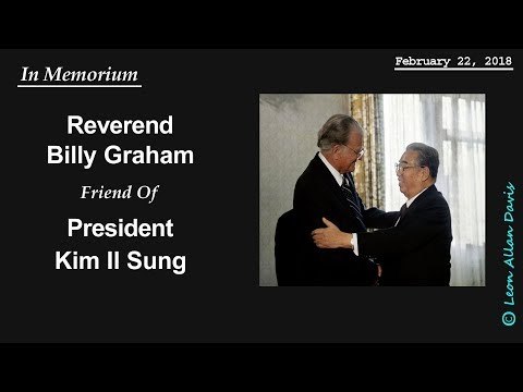 The Reverend Billy Graham and President Kim Il Sung