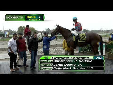 video thumbnail for MONMOUTH PARK 10-20-19 RACE 7