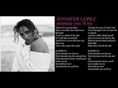 jennifer lopez promise me you 'll try + lyrics