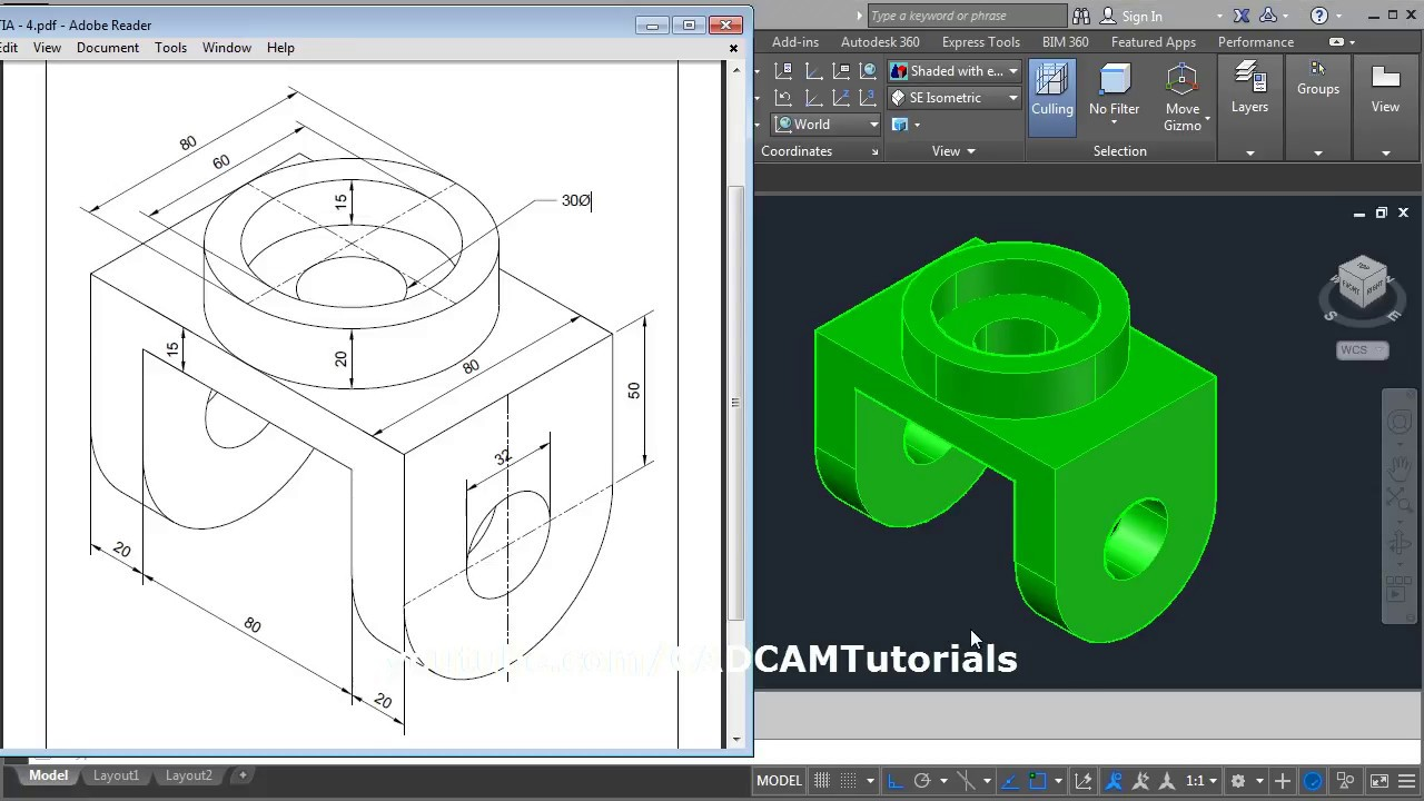 3d hvac drawing images process flow diagram drawing images autocad 3d practice mechanical drawing using box ... #7