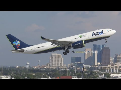 Azul Brazilian Airlines Departure | Airbus A330-200 | PR-AIZ | Ft Lauderdale