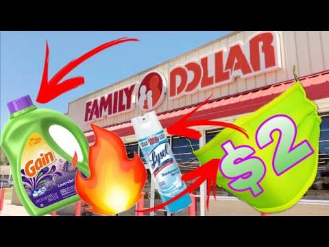 FAMILY DOLLAR SHOPPING!!! *LYSOL SPRAY* $1.95 GAIN, $2 FACE MASKS, SALE FOOD + CURTAIN CLEARANCE!!!