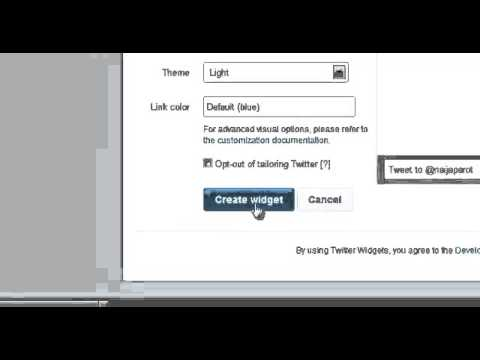 How To Insert Twitter Widget As Html Into Your Blogger