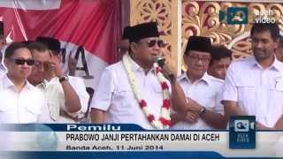 Prabowo Komit Jaga Perdamaian Aceh