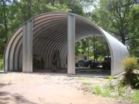 The garage steel arch building that Izzy and I built.
