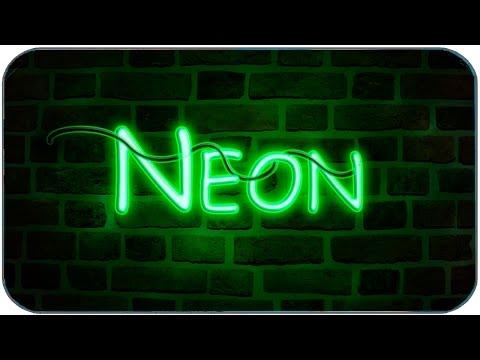🔴  Простой Эффект в Фотошопе с Текстом - Neon