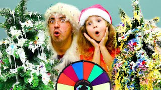 WE FURNISH YOUR TREE SLIME CHALLENGE! Dad Against Nadia - Who Has More Beautiful?