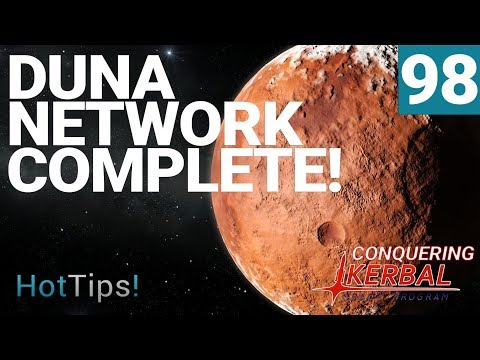 Kerbal Space Program [1.2.2] - Ep 98 - Duna Satellite Network With RemoteTech - Let's Play