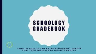 Schoology/Infinite Campus Grade Passback Explanation