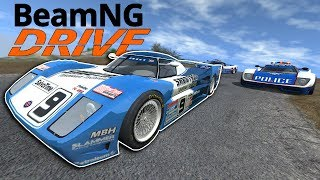 Impossible Supercar Police Chase on a Mountain! - BeamNG Gameplay & Crashes - Cop Escape