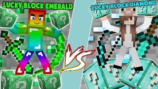MINI GAME : DIAMOND Vs EMERALD LUCKY BLOCK ** KIM CƯƠNG HAY EMERALD VIP ĐÂY ?? NOOB VÀ CỪU PvP