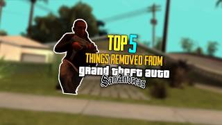 TOP 5 Things Removed From GTA SA BETA
