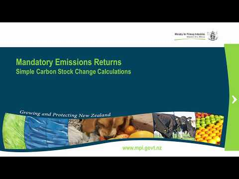 5 - Emissions Trading Scheme (Forestry) - Simple Carbon Stock Change Calculations
