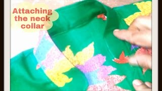 6. Attaching the Neck Collar - ★★Kurti/Kameez with Chinese Collar★★ PUNJABI