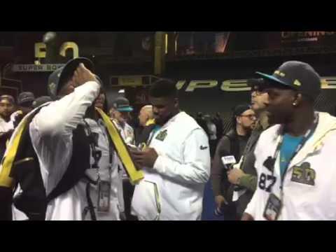 Carolina Panthers Infectious Energy At Super Bowl Media Day #SB50
