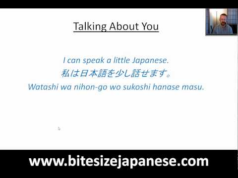 How to say I can speak a little Japanese