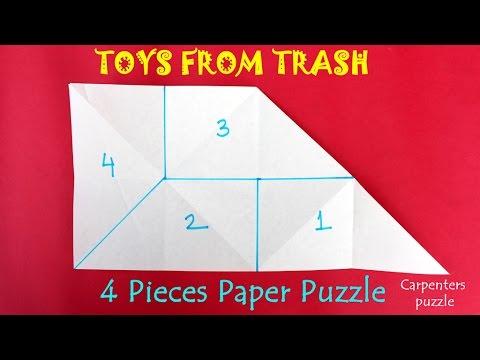4 Pieces Paper Puzzle