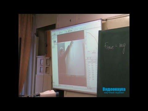 Видеоанализ на уроке для измерения ускорения свободного падения