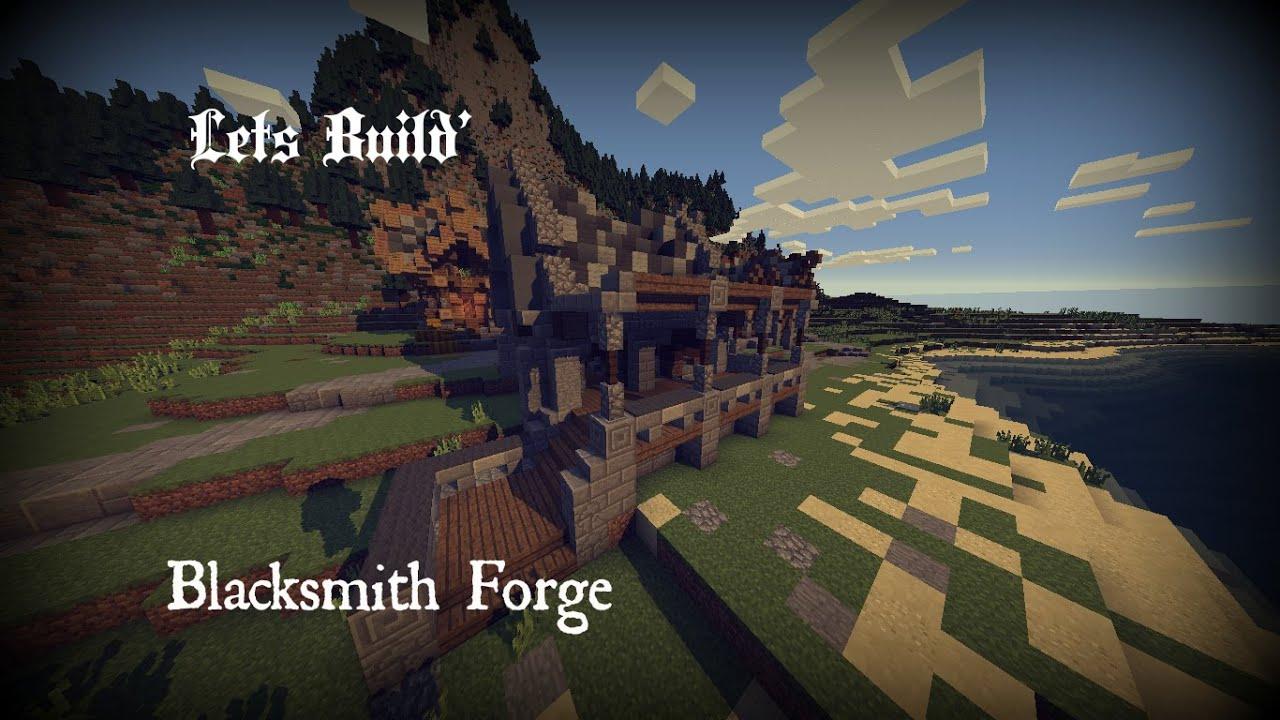 Minecraft Lets Build 5 Blacksmith Forge Youtube
