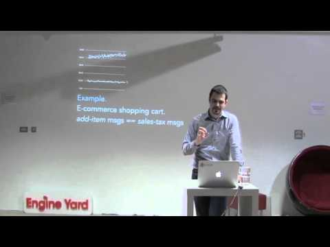 Richard Rodger talking at first ever microservices Dublin meetup