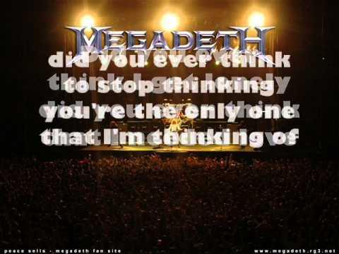 Megadeth - In My Darkest Hour (lyrics)