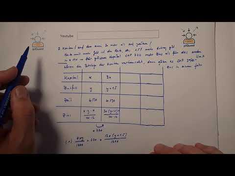 Textaufgaben - Kapital Und Zinsen