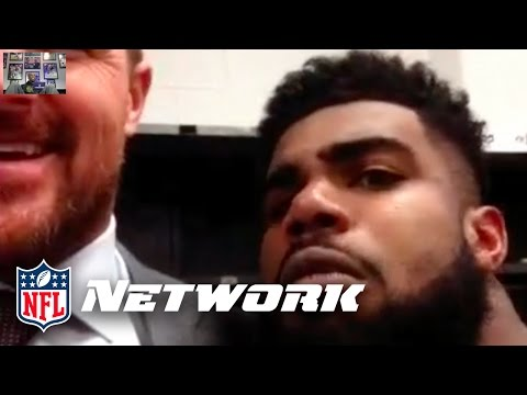 Ezekiel Elliott At it Again, Photobombing Jason Witten's Interview | Primetime | NFL