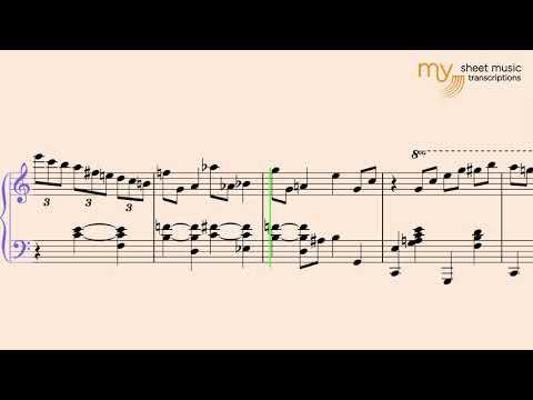 All of Me (Chris Dawson) - Piano Jazz Sheet Music Transcription
