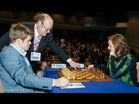 Amazing Chess Game : Magnus Carlsen vs Judit Polgar - London Classic (2012) - English Opening