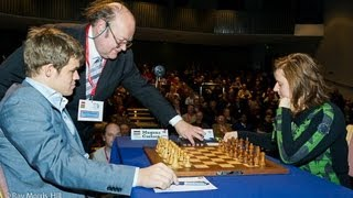 English Opening : Magnus Carlsen vs Judit Polgar - London Classic (2012) - English Opening