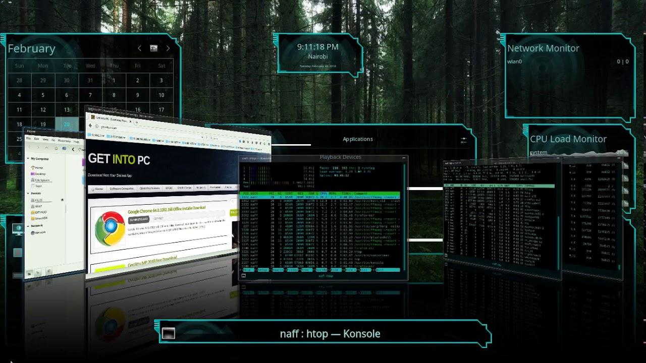 Kali Linux 2018 1 With KDE Desktop Environment