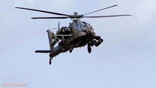 Dutch AF AH-64 Apache Helicopters arrives back from mission Gilze Rijen AB (EHGR)