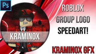 ROBLOX GROUP LOGO SPEED ART! [Photoshop and Blender]