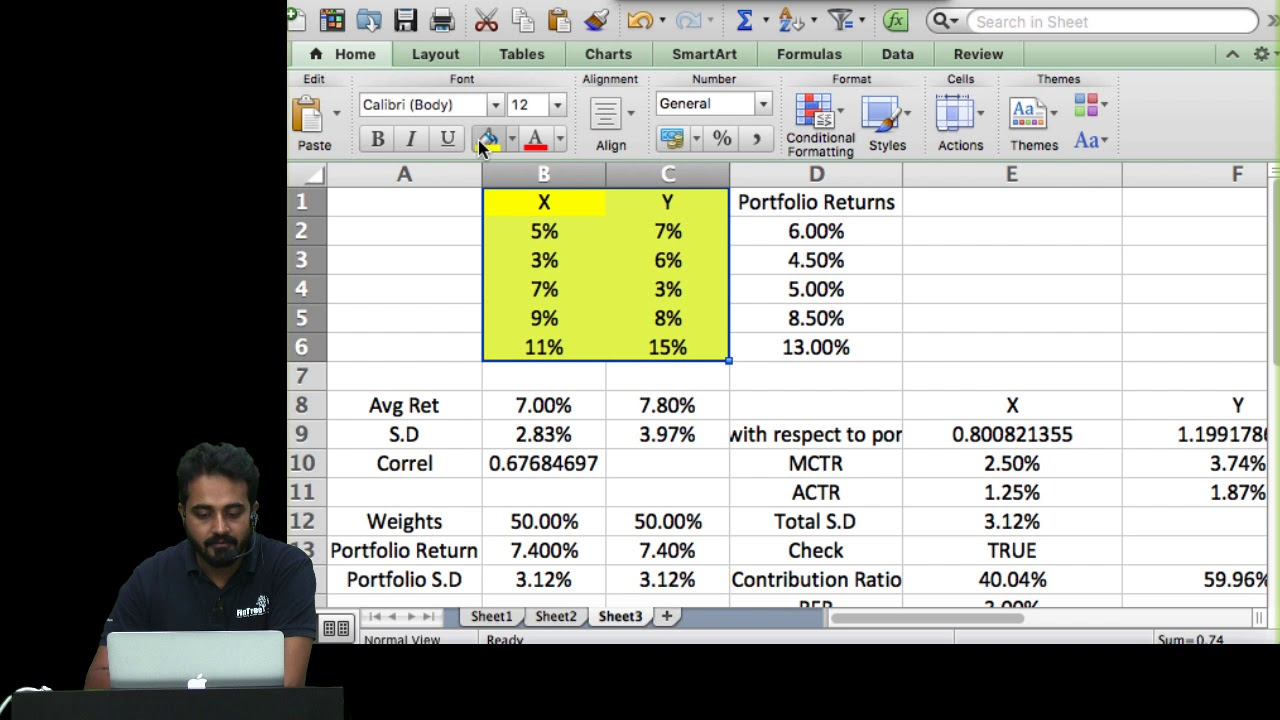 CFA Level 3 : Principles of Asset Allocation - Risk Budgeting - Marginal  Contribution to Risk Part 1