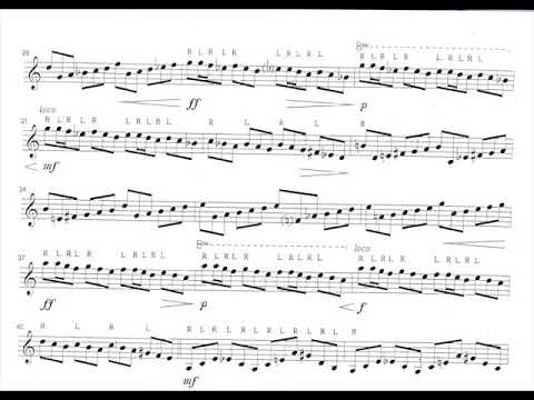 Earl Hatch - Etude for Marimba (1955) [Score-Video]