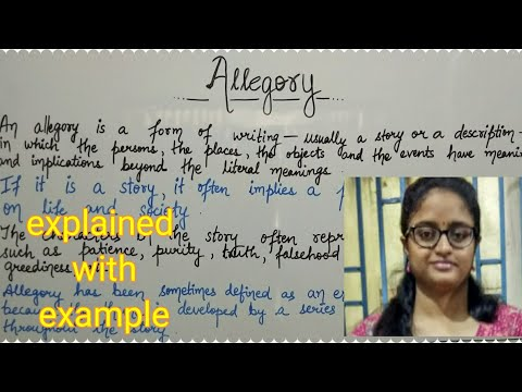 Allegory | Explained With Example | In Hindi ||