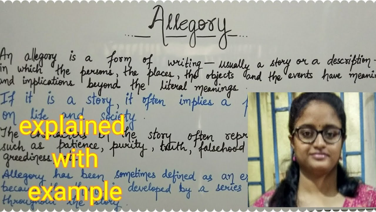 Allegory Explained With Example In Hindi Youtube