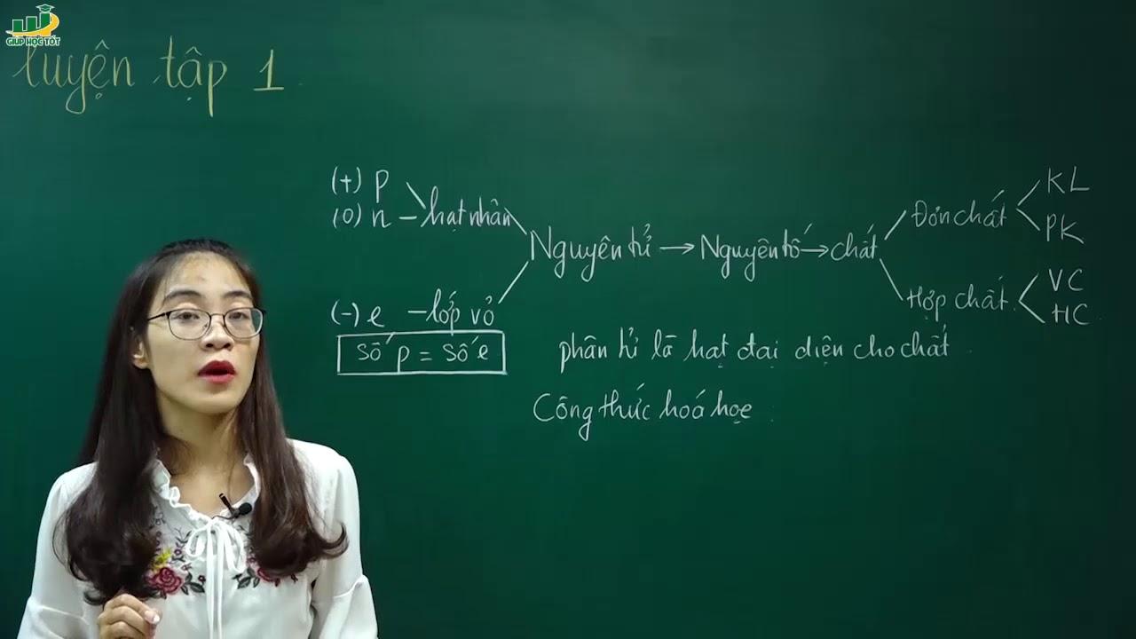 Hóa Học Lớp 8 –Bài tập về Chất –  Nguyên tử  hóa học lớp 8 | Cô Nguyễn Thị Kiều Anh