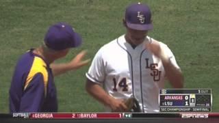 Ibarra heads ball to Bregman for an out - LSU vs. Arkansas Baseball