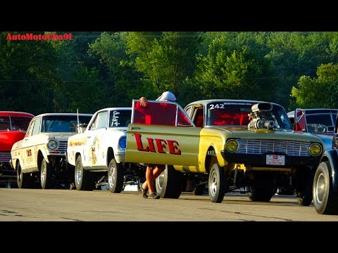 OLD SCHOOL GASSERS 60S CARS THE BEST TIME OF RACING GLORY DAYS AT BYRON DRAGWAY