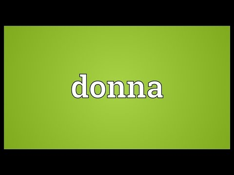 Donna Meaning