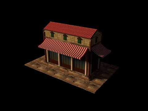 Low Poly Game Building With Blender 3D - Old Store in 1826's Istanbul