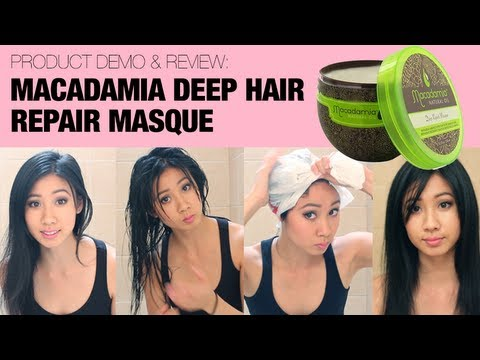 Macadamia Deep Hair Repair Mask For Finedry Hair A Demo