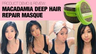 Macadamia Deep Hair Repair Mask for fine/dry hair- A Demo & Review