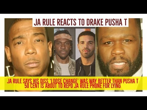 Ja Rule REACTS to Pusha T Drake Diss Records, Ja Says His Diss 'Loose Change' BETTER. STOP IT JA!