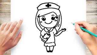 How to Draw a Nurse Step by Step