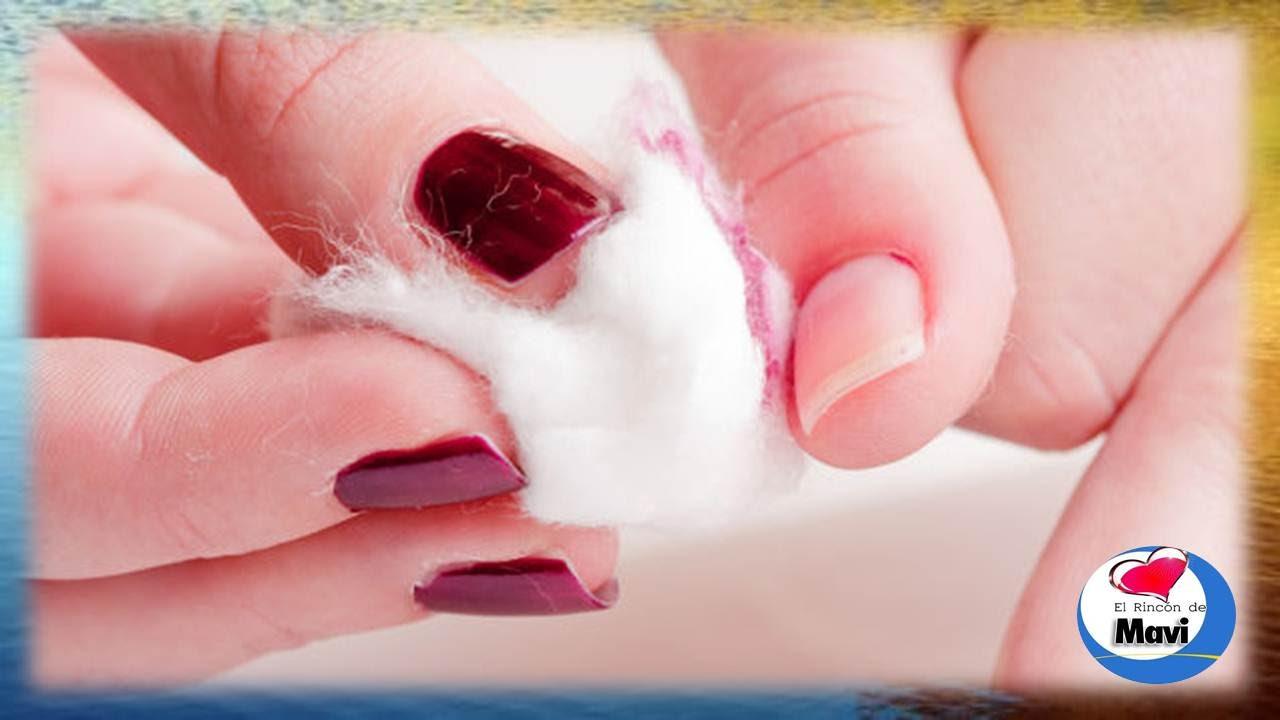 Como quitar el esmalte de uñas sin acetona o removedor - YouTube