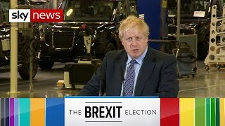General Election: Boris Johnson says 'end to uncertainty' by election victory