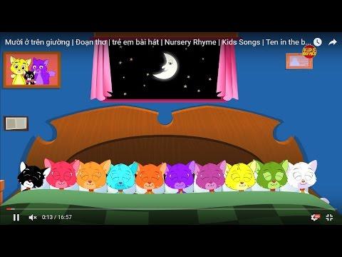 Mười ở trên giường | Đoạn thơ | trẻ em bài hát | Nursery Rhyme | Kids Songs | Ten in the bed